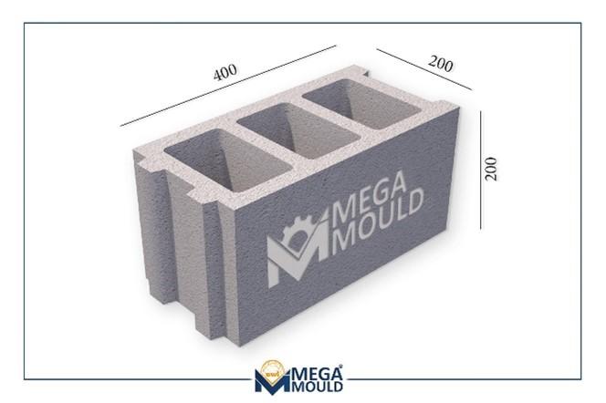 20 cm concrete block